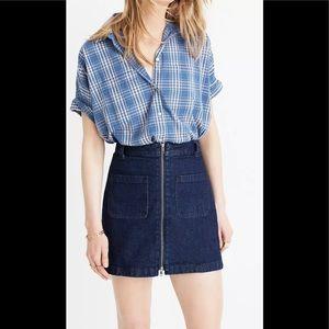 Madewell Denim Zip Mini Skirt